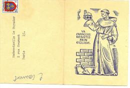 LGM FRANCE - PREO BLASON D'ANJOU SURCHARGE EPAISSE SUR DEPLIANT THEME RELIGIONS - Préoblitérés