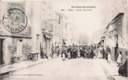 ELNE 646 LES PYRENEES ORIENTALES ROUTE NATIONALE (BELLE ANIMATION) - Elne