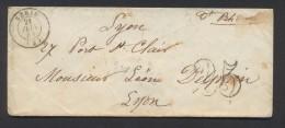 ALLIER ENV NERIS Tad Type 15 Du 21 Juin 1853  Taxe 25  DT TB - Marcophilie (Lettres)