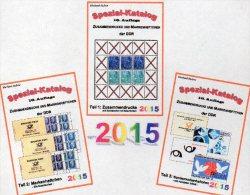 DDR RICHTER-Katalog 2015 Zusammendruck+Markenhefte 1-3 Neu 75€ Zierfelder Se-tenant Booklet Special Catalogue Bf Germany - Phonecards