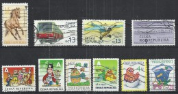 TEN AT A TIME - CZECH REPUBLIC - LOT OF 10 DIFFERENT - USED OBLITERE GESTEMPELT - USED OBLITERE GESTEMPELT USADO - Tchéquie