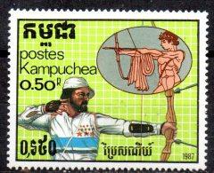 KAMPUCHEA   N° 713   * *    Jo 1988  Tir A L Arc - Archery