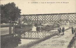 Cambrai  -   59 - Nord  -   Canal De Saint-Quentin Et Pont De Marquion - Commerce
