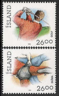 Iceland 1991 MNH/**/postfris/postfrisch Michelnr. 749-750 Sport - 1944-... Republique