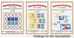 DDR Zusammendrucke Markenhefte SMH Katalog 2015 Teil 1-3 Neu 75€ RICHTER Se-tenant+booklets Special Catalogue Of Germany - German