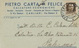 CAGLIARI PIETRO CARTA CALZATURE ECONOMICHE 1939 - Cagliari