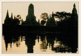 THAILANDIA:  AYUTTHAYA: TRAMONTO SUL TEMPIO CHAI WATHANARAM       (NUOVA CON DESCRIZIONE DEL SITO) - Tailandia