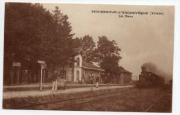 VILLENEUVE L´ARCHEVEQUE (89) - LA GARE - TRAIN - Villeneuve-l'Archevêque