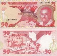 Tanzania - 50 Shillings 1993 P 19 UNC Ukr-OP - Tansania