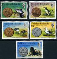 Falkland Islands 1975 Coins Set Of 4, Very Fine Used - Falkland Islands