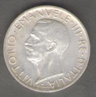 ITALIA 5 LIRE 1926 AQUILOTTO VITTORIO EMANUELE III AG SILVER - 1861-1946 : Regno