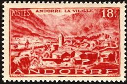 Andorra (Fr),  Scott 2015 # 122,  Issued 1949-1951,  Single,  MNH,  Cat $ 27.50 - French Andorra