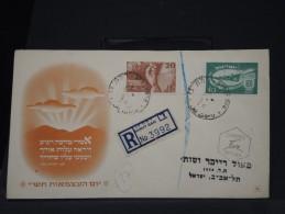 ISRAEL -  ENVELOPPE DE 1950 EN RECOMMANDE  A VOIR A ETUDIER  LOT P2865 - FDC