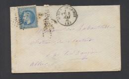 ALLIER ENV ST GERAND LE PUY Tad  Type 16 Du 8 Mai1870 GC  Sur N° 29  TB Ind 6 - Marcophilie (Lettres)