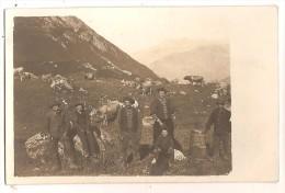 Carte Photo 73 Ou 74 Bergers Dans La Montagne Vaches - Sin Clasificación
