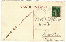 FRANCIA - France - 19?? - 5c - Avis De Passage - GASTON & RAYMOND PIERRON - Carte Postale - Post Card - Postal Statio... - Pubblicitari