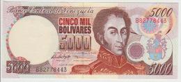 Venezuela 5000 Bolivares 1998 Pick 78 UNC - Venezuela