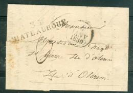 Oblitération 35 - CHATEAUROUX En Janvier 1830 Sur Lac - Aoa0104 - Marcophilie (Lettres)