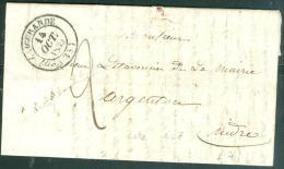 Cad De 1839 ( Aigurande )  Su Lac  De Lourdeix Saint Michel  Pour Argenton - Aoa0105 - Postmark Collection (Covers)