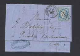 ALLIER 03 LAC  VARENNES SUR ALLIER  Tad  Type 16 Du 11 Février 1872 GC Sur N° 60 TTB - Marcophilie (Lettres)
