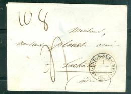 Cad De Argenton Sur Creuse En 1844 Sur LSC POUR La Chatre   Aoa0111 - Marcophilie (Lettres)