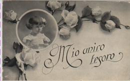 AUGURI AUGURALE MIO UNICO TESORO BAMBINI ENFANTS FIORI FLEURS FLOWERS  ROSE - Auguri - Feste