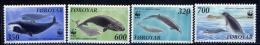 Faroe Islands 1990 №203-206 WWF WHALES. Dolphins - W.W.F.