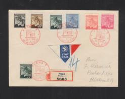 Czechoslovakia Registered Cover Special Cancellation Oslavy 28. Rijna - Czechoslovakia