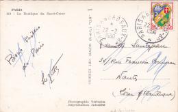 """BLASON 15f Alger Obl AMBULANT Type 4 """""""" PARIS A BORDEAUX 3° """""""" 22/2/1950 SEUL Sur CP - Marcophilie (Lettres)"""