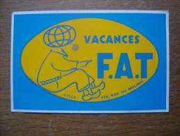 Autocollant Sticker VACANCES F A T Lille - Autocollants