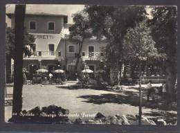 """9216-ALBERGO RISTORANTE """"FERRETTI""""-SPOLETO(PERUGIA)-1954-FG - Hotels & Restaurants"""