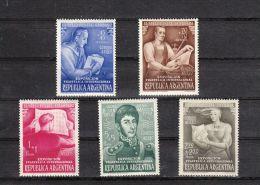 Argentine YT PA 34/8 * : Exposition Philatélique - 1950 - Luftpost