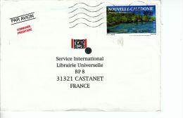 Nouvelle-Calédonie YT PA 277 Sur Lettre :  Vue De Maré - 1991 - Briefe U. Dokumente