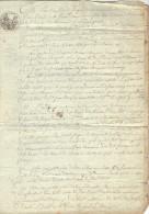 Manuscrit  4 Pages 27/9/ 1814 Partage Après Décès Dirac Garat Charente - Manuscrits