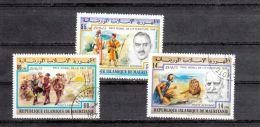 Mauritanie YT PA 178/80 Obl : Prix Nobel - 1977 - Nobel Prize Laureates