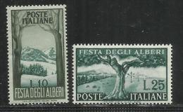 ITALY REPUBLIC ITALIA REPUBBLICA 1951 FESTA DEGLI ALBERI TREES FESTIVAL SERIE COMPLETA FULL SET MNH OTTIMA CENTRATURA - 1946-60: Nuovi