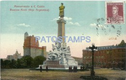 5845 ARGENTINA BUENOS AIRES MONUMENTO A CRISTOBAL COLON POSTAL POSTCARD - Argentinien