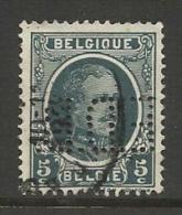 """BELGIQUE , BELGIE ; Perforé , Perfin ; """" E.D.B. """" , 5 C , Albert 1er , 1921 - 1927 , N° YT 193 - Perforés"""