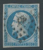 Lot N°27800   Variété/n°14B, Oblit Losange Ambulant DP Ou QP, Fond Ligné Horizontal - 1853-1860 Napoléon III.