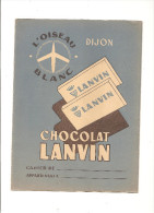 Protège Cahier Chocolat Lanvin DIJON L'oiseau Blanc - Protège-cahiers