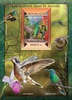 gu15108b Guinea 2015 Bird Colibris Hummingbird s/s Orchid