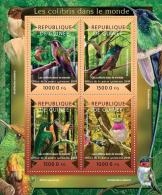 gu15108a Guinea 2015 Bird Colibris Hummingbird s/s