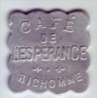 Monnaie De Nécessité - LOIRE 42 - St Etienne - Café De L'espérance. Richomme. 25c - - Monétaires / De Nécessité