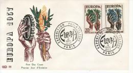 1957 - FRANCIA  FDC  EUROPA CEPT - VEDI - Europa-CEPT