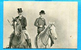 FR098, Fantaisie, Cavalier Et Amazone , Non Circulée - Horses