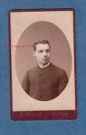 Photo Ancienne CDV Vers 1870 - TOULOUSE - Portrait D´un Jeune Homme Toulousain - Boy Man - Photographie F. Massip - Photos