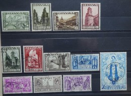 BELGIE   1933   nr.363 - 374   Tweede Orval     Gestempeld      CW   1 050,00