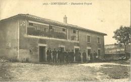 CORVEISSIAT AIN 01 5657 DIAMENTERIE VERGUET INDUSTRIE  EDIT. MARTIN  ECRITE 1915 - France