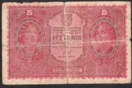 CZECHOSLOVAKIA  P7a  5  KORUN  1919   FINE - Tchécoslovaquie
