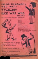 kleine affiche programma  't Cabaret Elck wat wils - Brugge